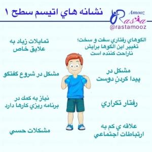 نشانه های اتیسم سطح 1 (نیازمند حمایت)